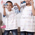 Kaos Anak Cowok edisi Mini Camera – White