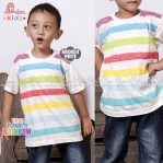 Kaos Anak Cowok edisi Play With Rainbow – Broken White