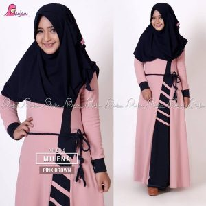 Milena Dress Pink Brown