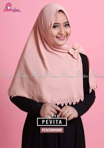 Jilbab Instant Pevita Peach Brown